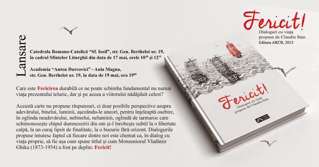 """16, 17, 19 mai 2015 – Lansarea cărții """"Fericit"""""""