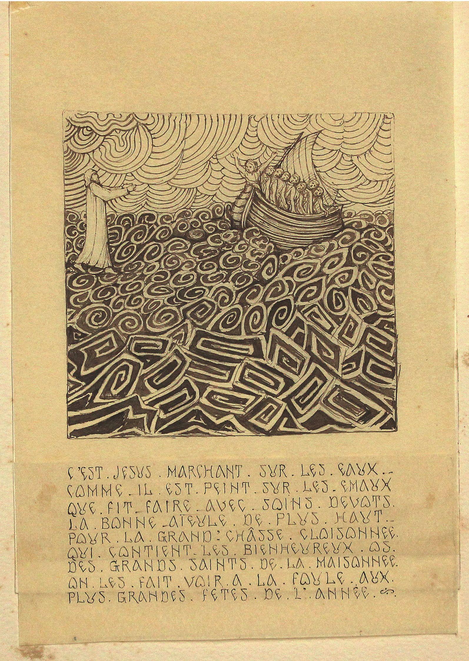 Isus umblând pe valuri