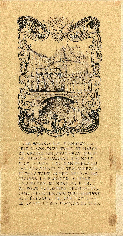 Procesiune în fața Vechilor temnițe din Annecy în timpul Sfântului Francisc de Sales